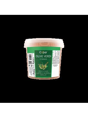 Žalios alyvuogės sūrime 300gr