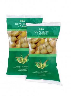 Žalios alyvuogės sūrime 250gr